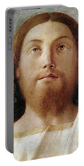 The Redeemer Detail Of A Painting By Giovanni Bellini  Portable Battery Charger
