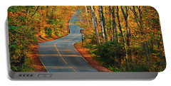 Portable Battery Charger featuring the photograph The Road Up Mount Greylock by Raymond Salani III
