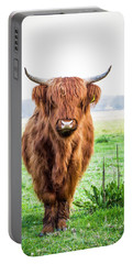 Portable Battery Charger featuring the photograph The Scottish Highlander by Anjo Ten Kate