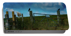 Portable Battery Charger featuring the photograph The Sheep That Hates Dogs by Chris Lord
