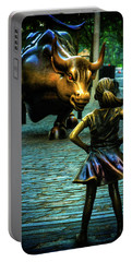 Portable Battery Charger featuring the photograph The Standoff by Chris Lord