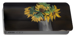 Portable Battery Charger featuring the painting The Sun Flowers  by Fe Jones