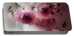 The Tender Fragrance Of Roses Portable Battery Charger