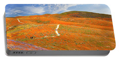 The Trail Through The Poppies Portable Battery Charger