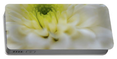 The White Flower Portable Battery Charger