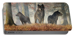 Portable Battery Charger featuring the digital art The Wolves Of Autumn by Daniel Eskridge