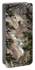 The Yellowstone River Seen Through The Pines Portable Battery Charger
