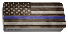 Thin Blue Line Barn Door Portable Battery Charger