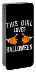 This Girl Loves Halloween Portable Battery Charger