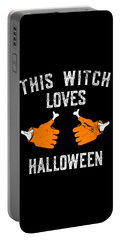 This Witch Loves Halloween Portable Battery Charger