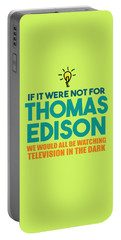 Thomas Edison Portable Battery Charger