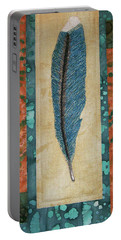 Threaded Feather Portable Battery Charger