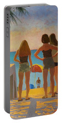 Three Beach Girls Portable Battery Charger