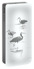 Three Blue Herons Portable Battery Charger
