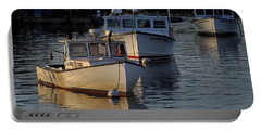 Portable Battery Charger featuring the photograph Three Boats In Maine by Tom Gresham