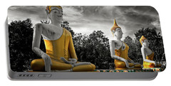 Three Golden Buddhas Portable Battery Charger