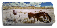 Three Horses In Colorado Portable Battery Charger