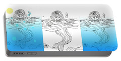 Three Mermaids All In A Row Portable Battery Charger