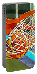 Portable Battery Charger featuring the photograph Three Point Shot From Downtown Nothing But Net Basketball 20190106 by Wingsdomain Art and Photography