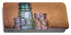 Three Vintage Ball Jars Portable Battery Charger