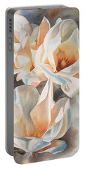 Three White Magnolias Portable Battery Charger