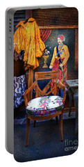 Portable Battery Charger featuring the photograph Throne Chair Of The Puce Du Saint Ouen Waiting For Its Queen by Craig J Satterlee