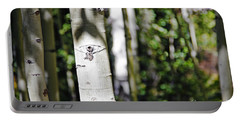 Through The Aspen Forest Portable Battery Charger