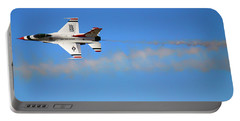 Through The Smoke - Air Force Thunderbirds - Usaf F-16 Portable Battery Charger