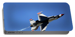 Thunderbird 6 Flies Overhead - Air Force Thunderbirds - Usaf F-16 Portable Battery Charger
