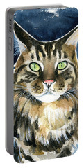 Tickie Maine Coon Portrait Portable Battery Charger