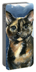 Tiffany Tortoiseshell Cat Painting Portable Battery Charger