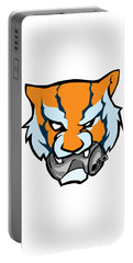 Tiger Head Bitting Beer Can Orange Portable Battery Charger
