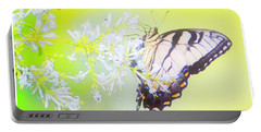 Tiger Swallowtail Butterfly On Privet Flowers Portable Battery Charger