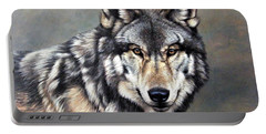 Timber Wolf By Alan M Hunt Portable Battery Charger