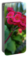 Tiny Red Flowers Portable Battery Charger