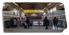 Portable Battery Charger featuring the photograph Tokyo To Kyoto Bullet Train, Japan 2 by Perry Rodriguez