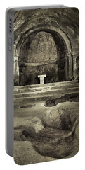 Tomb And Altar In The Monastery Of San Pedro De Rocas Portable Battery Charger
