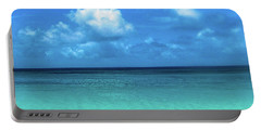 Topical Beach View Anguilla Portable Battery Charger