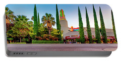 Portable Battery Charger featuring the photograph Tower Cafe Dusk- by JD Mims