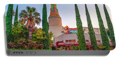 Portable Battery Charger featuring the photograph Tower Cafe Sunset- by JD Mims