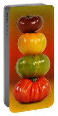 Tower Of Colorful Tomatoes Portable Battery Charger