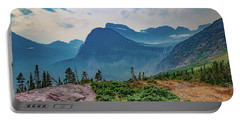 Portable Battery Charger featuring the photograph Trail To Grinnell Glacier by Lon Dittrick