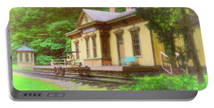 Train Depot With Hand Car Portable Battery Charger