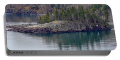 Tranquility In Silver Bay Portable Battery Charger
