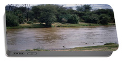Travel, African Safari 1983, Africa, Wildlife, River Portable Battery Charger