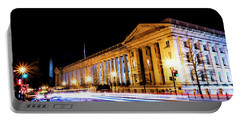 Portable Battery Charger featuring the photograph Treasury Building by Travis Rogers