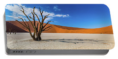 Tree And Shadow In Deadvlei, Namibia Portable Battery Charger