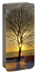 Tree Framed Sunrise New Hampshire Portable Battery Charger