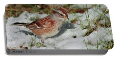 Tree Sparrow In Snow Portable Battery Charger