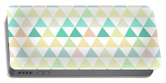 Triangle Abstract Background- Efg204 Portable Battery Charger